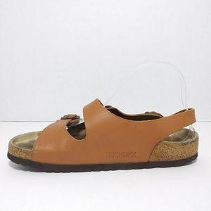 Birkenstock Tan Leather Sandals Size  L8 M6(EU39)
